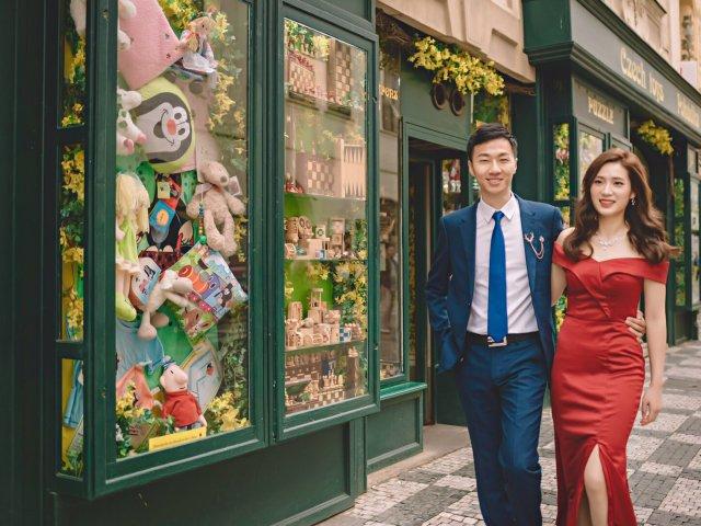 布拉格旅拍婚纱-红色系列