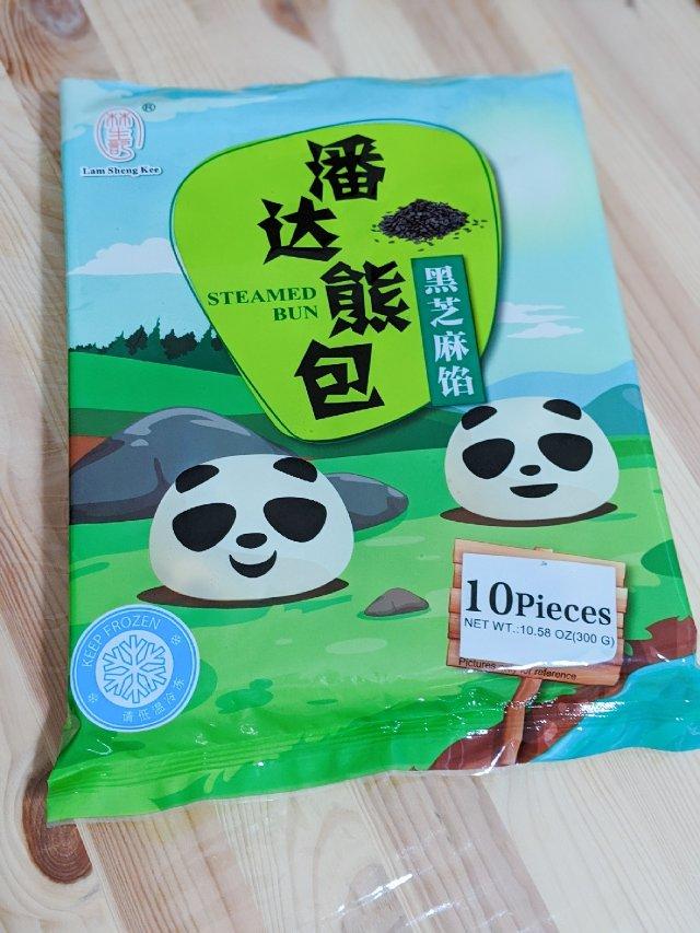 早餐吃什么:潘达熊🐼造型芝麻包