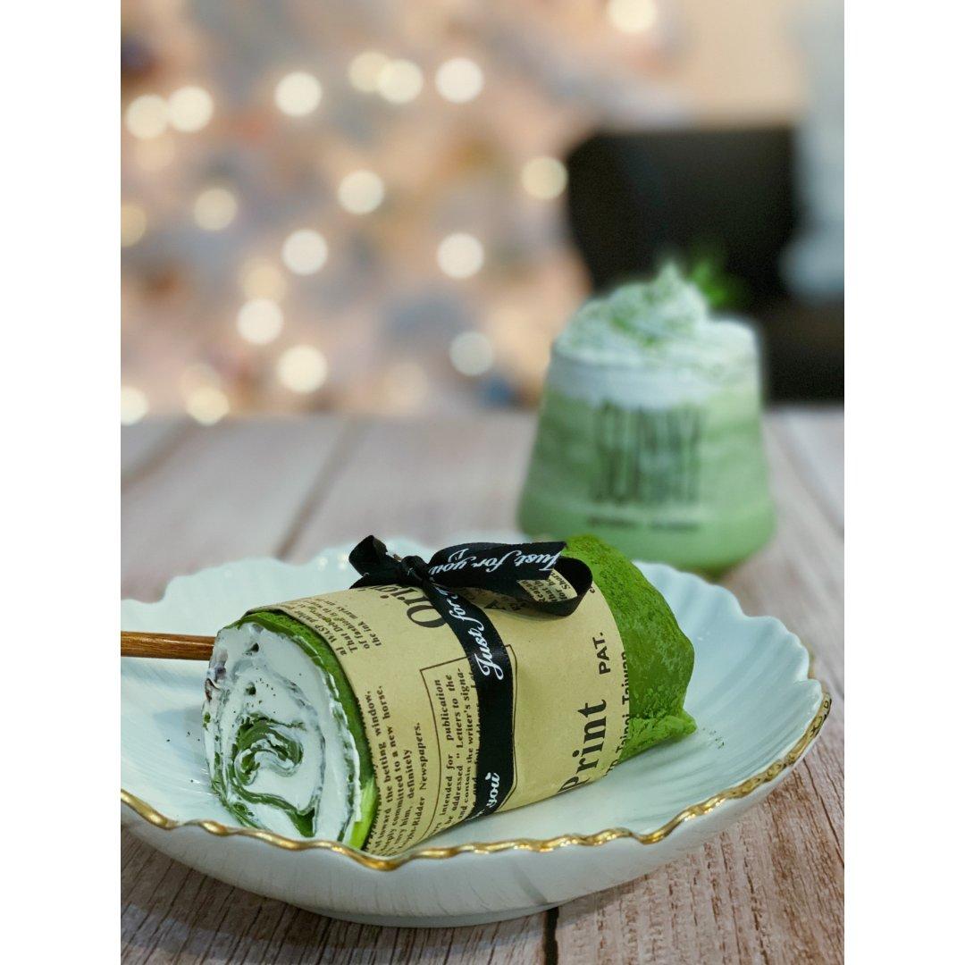 甜品DIY |抹茶毛巾卷和抹茶星冰乐