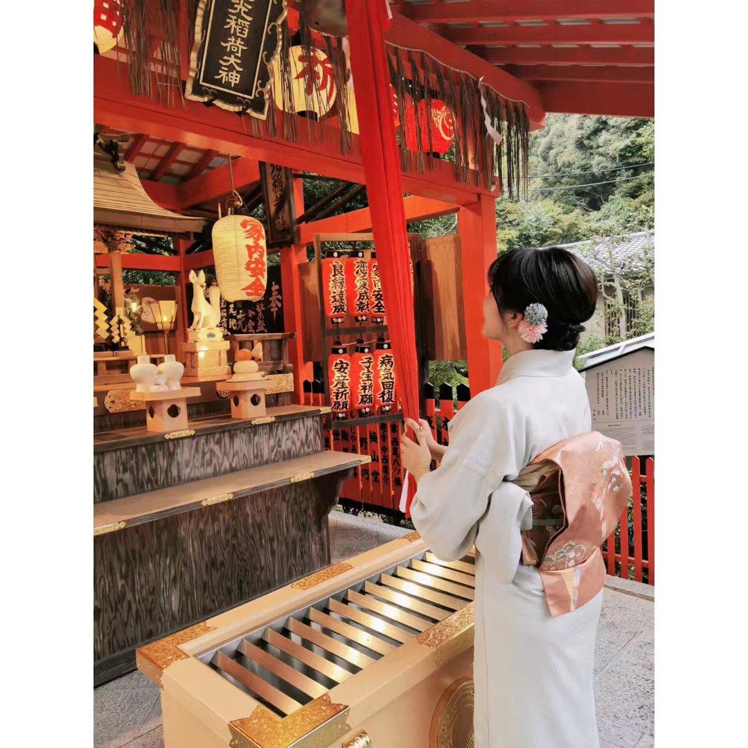 在京都当然要穿和服👘