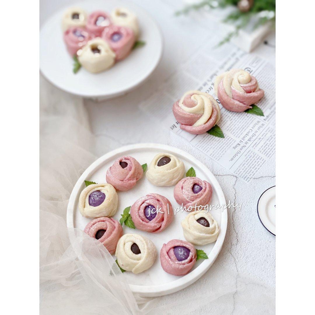 情人节专场  来一朵可以吃的玫瑰花瓣面包...