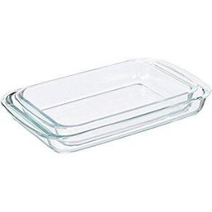 Amazon.com: Pyrex Basics 3 Quart Glass Oblong Baking Dish, Clear 8.9 Inch X 13.2 Inch - 3 Qt: Baking Dishes: Kitchen & Dining
