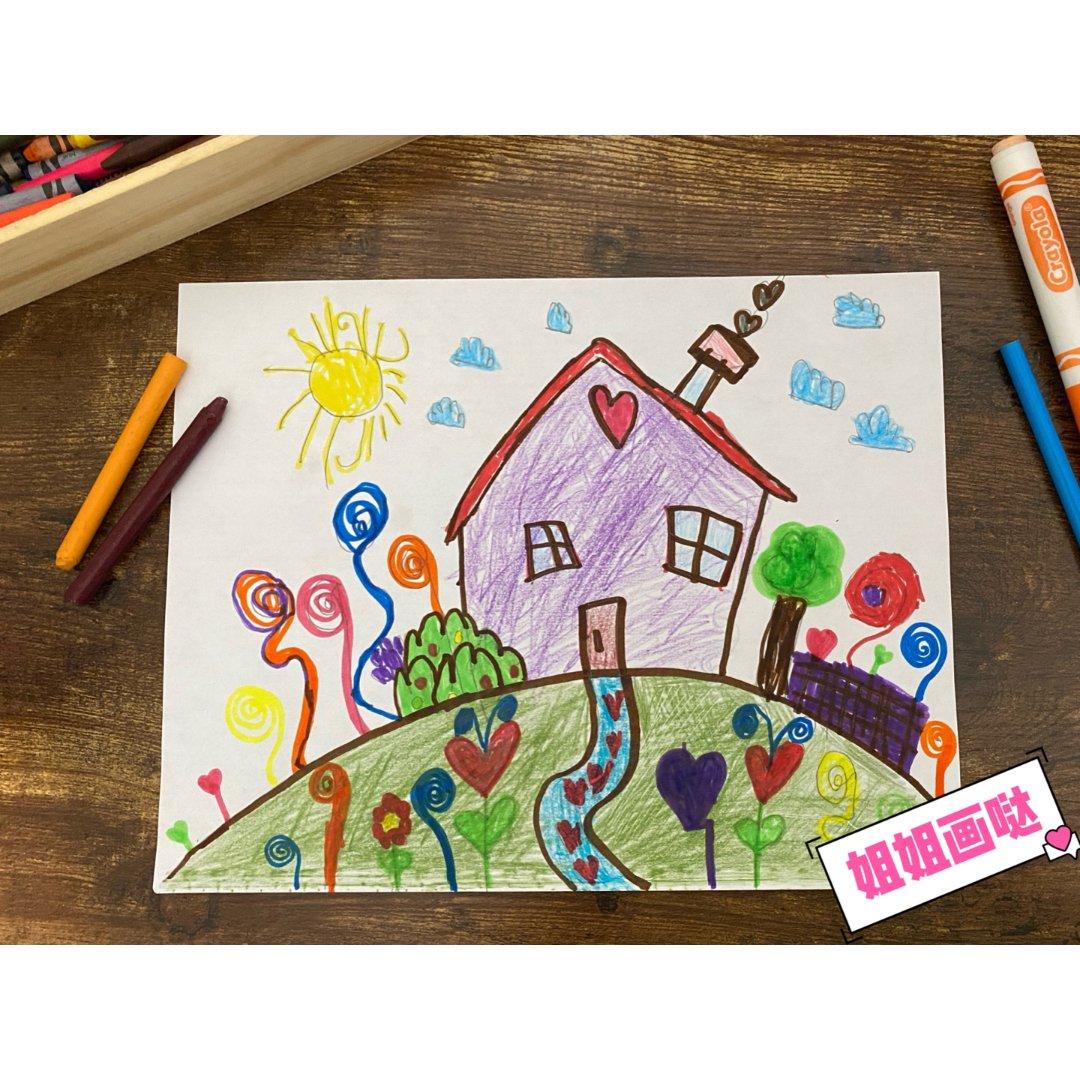跟孩子一起画画既可以打发时间,还能...