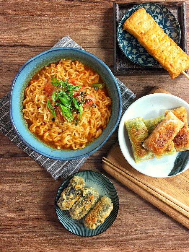 韩国速食一人晚餐
