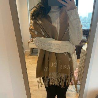 🇬🇧英国购物分享——LV奶茶色大羊绒围巾...