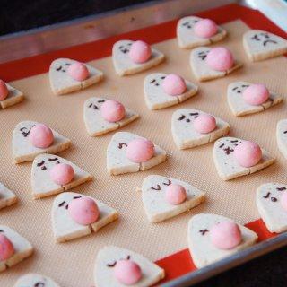 【超级可爱的大鼻子鬼脸栗子饼干,周末愉快...