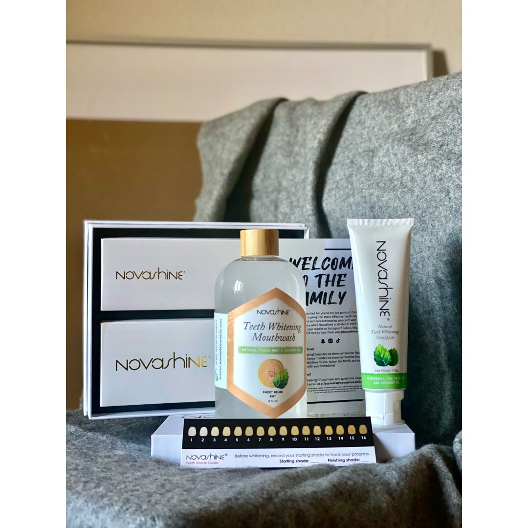 Novashine,Novashine 美白牙膏,Novashine Teeth Whitening Mouthwash – Novashine,Teeth Whitening Kit with LED Light Mouthpiece