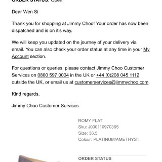 全新带盒 Jimmy Choo 36.5...