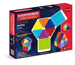 $20 Magformers Standard Rainbow Opaque Solid Set (30-pieces)