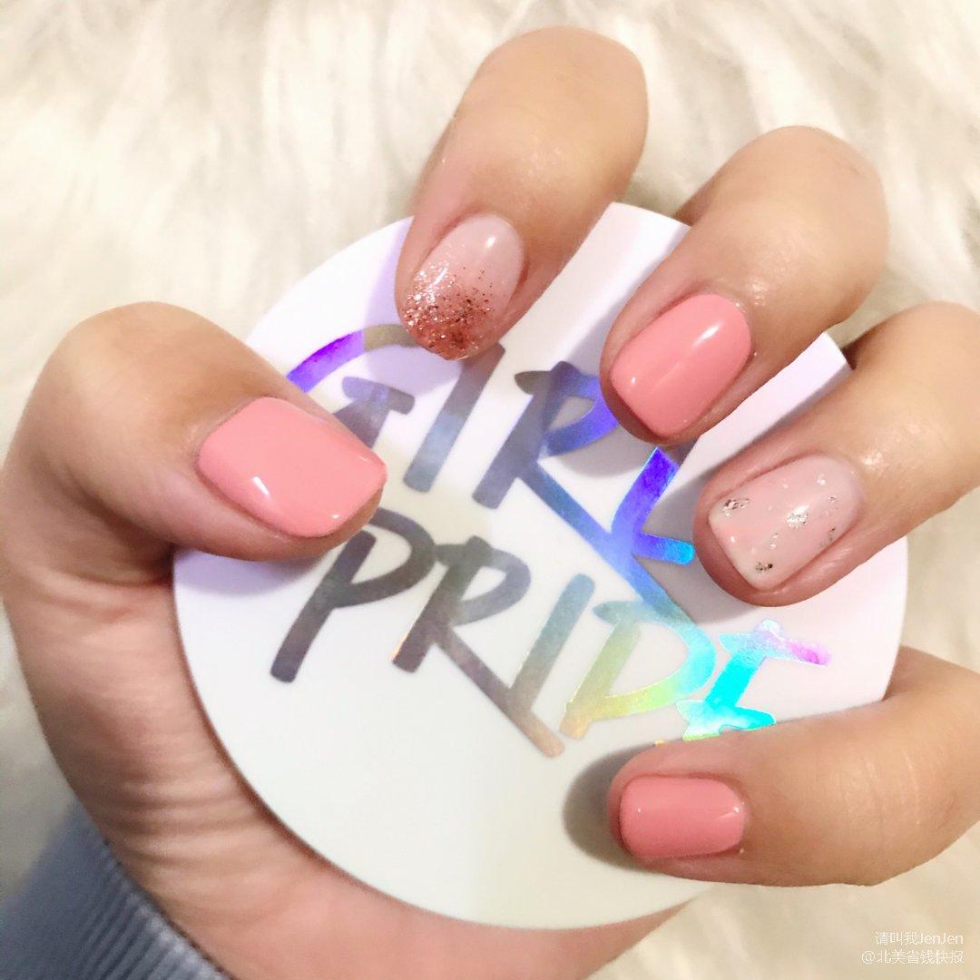 💗粉嫩粉嫩💗 少女心滿滿的指甲❤️