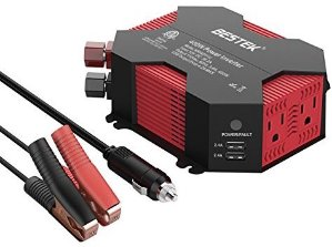 $27.99BESTEK Car Power Inverter 400W Modified Sine Wave Inverter 400W for Car with USB Auto Inverter 12v to 110v Dc to Ac Electronics Devices Inverter