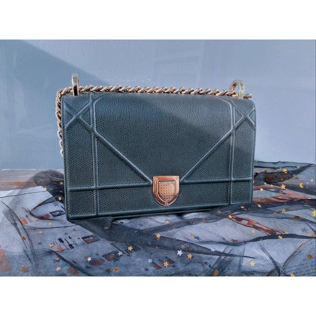 Diorama 黑金斜挎包