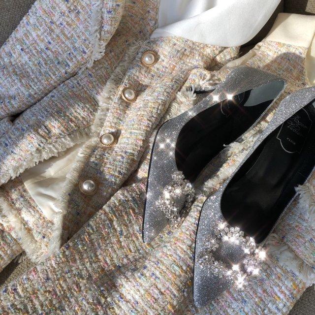 精致套装+贵的要死的鞋😂