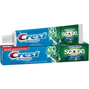 $0.97白菜价:Crest  薄荷香多功能美白薄荷牙膏 5.8 Oz