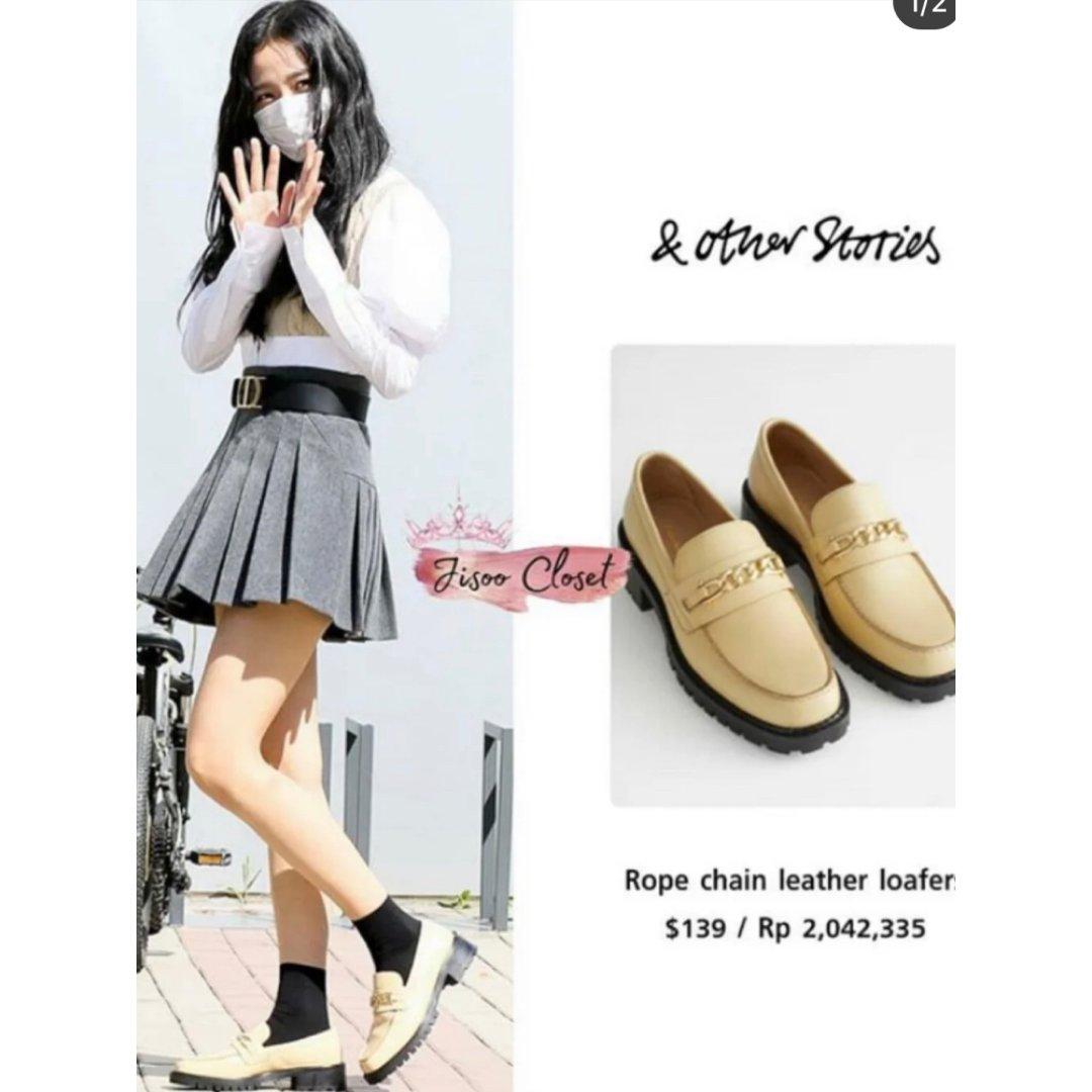 Black Pink Jisoo 乐福鞋...
