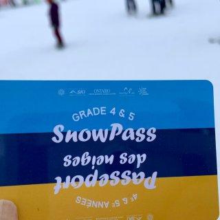 小学四五年级滑雪 Snow Pass ...