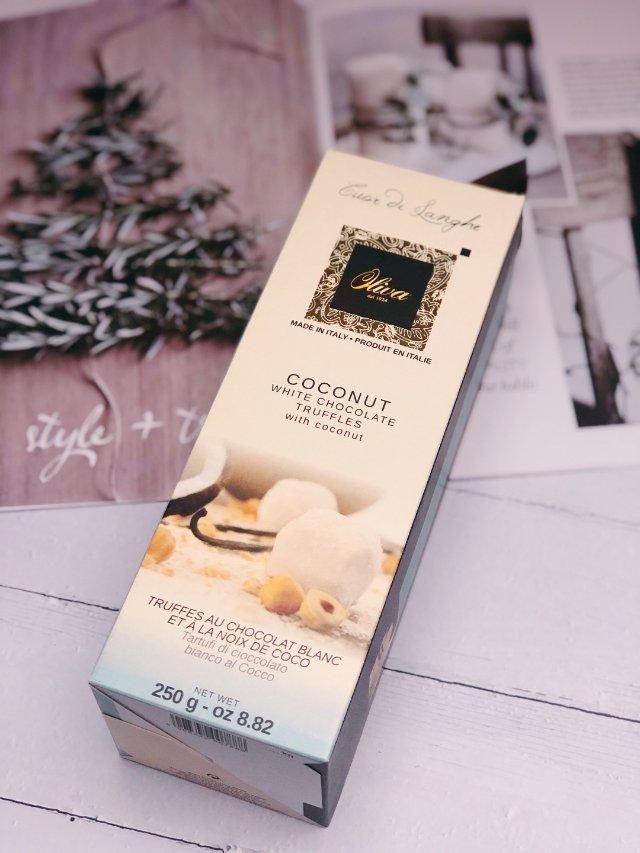 椰子松露白巧克力