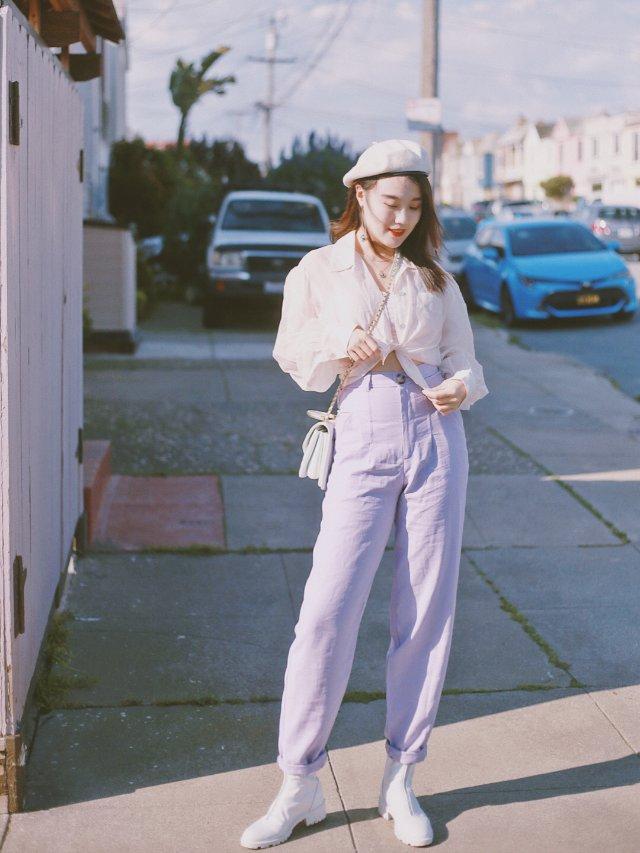 穿搭   网红Zara小紫裤爱了爱了😍😍