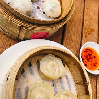 秋葵鱼饺,腰果鸡饺