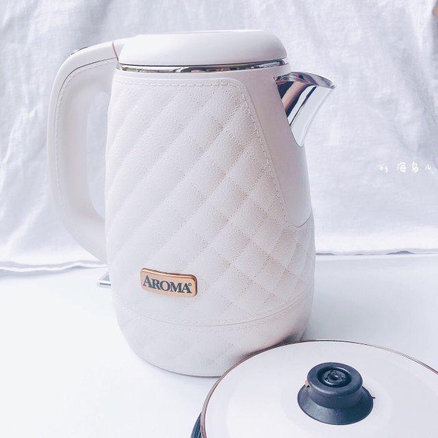 「高颜值小家电」aroma 粉色电热水壶