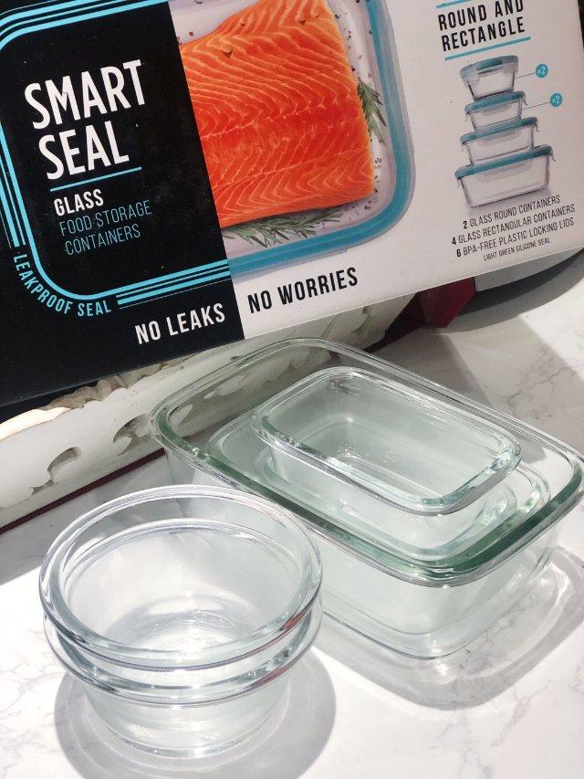 新购入的厨房用品↣玻璃保鲜盒