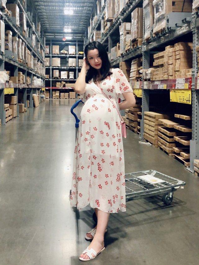 清凉又美腻的孕妇🌸连衣裙 | 肚子...
