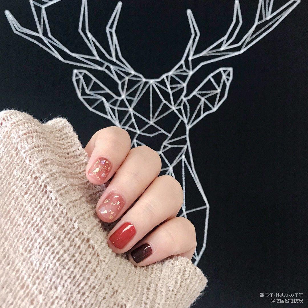 秋冬美甲推荐:圣诞节🎄做个暖暖的指甲吧