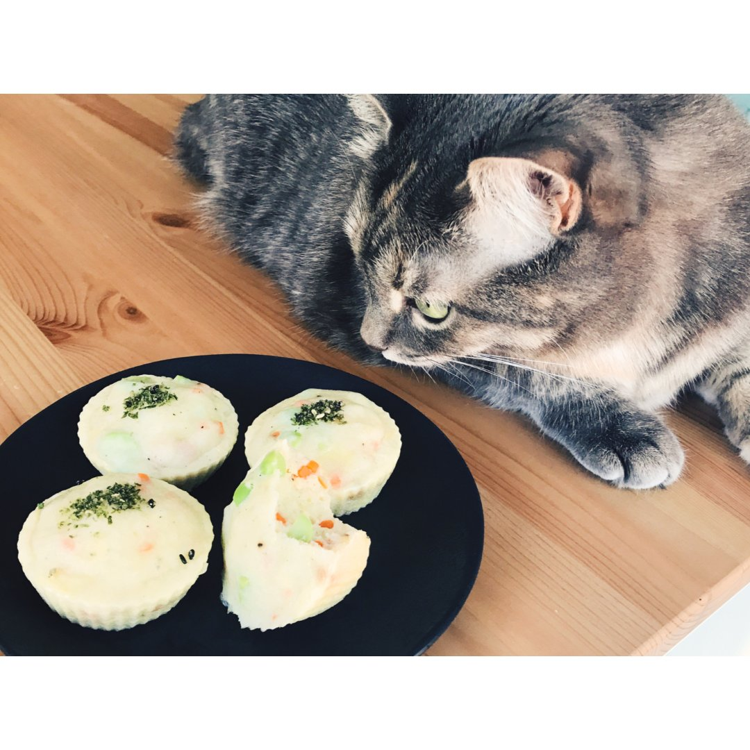 辅食| 宝宝(猫咪)超爱的彩蔬蒸鱼糕