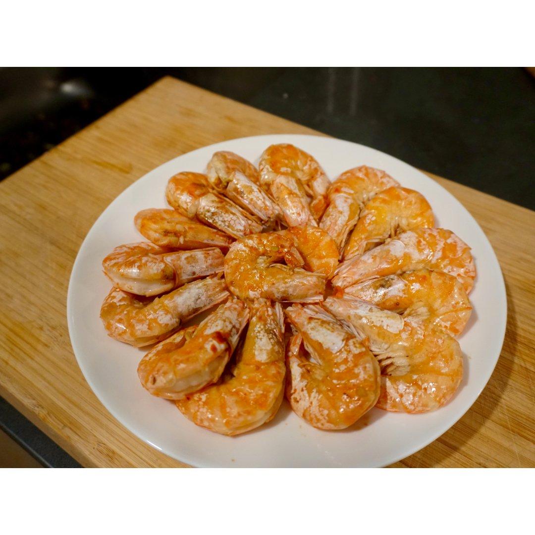 超鲜美的无水白灼虾