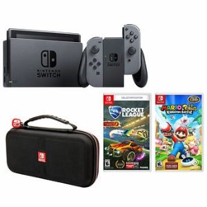 $359Nintendo Switch Bundle with Travel Case, Mario Rabbids Kingdom Battle & Rocket League Collectors Edition Video Games