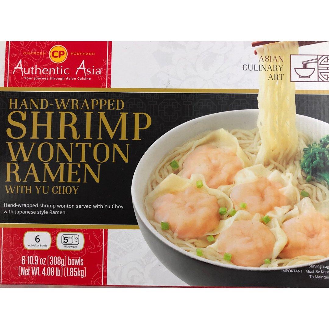 亚洲风味鲜虾馄饨面