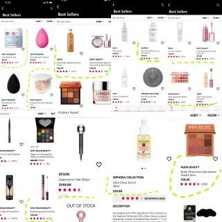 First Aid Beauty,Fenty Beauty,Fresh 馥蕾诗,Huda Beauty,Tarte,Kat Von D,Dyson 戴森,Sephora Collection,Olaplex