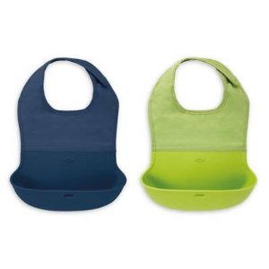 $11OXO Tot® 2-Pack Roll Up Bibs