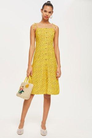 PETITE Ditsy Button Midi Dress | Topshop