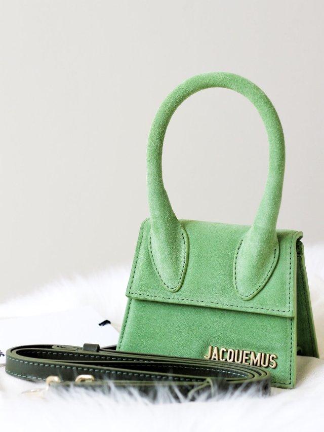 Jacquemus草木绿麂皮迷你包包💚