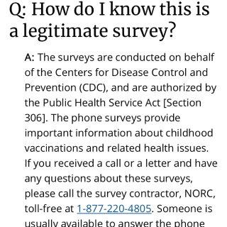 大家有收到CDC打来的电话吗?...