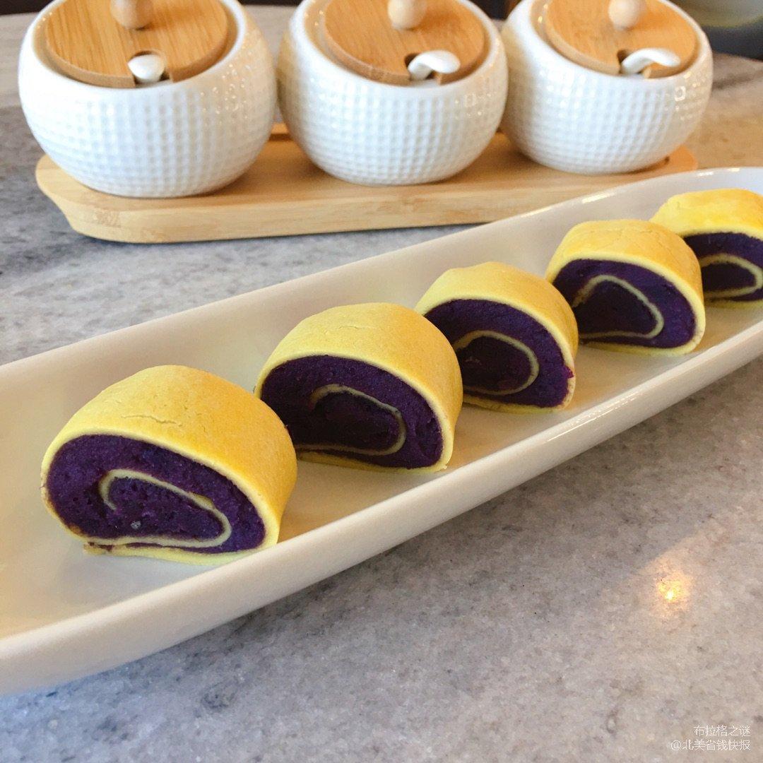 ✨低卡高纤维 | 紫薯蛋黄卷✨