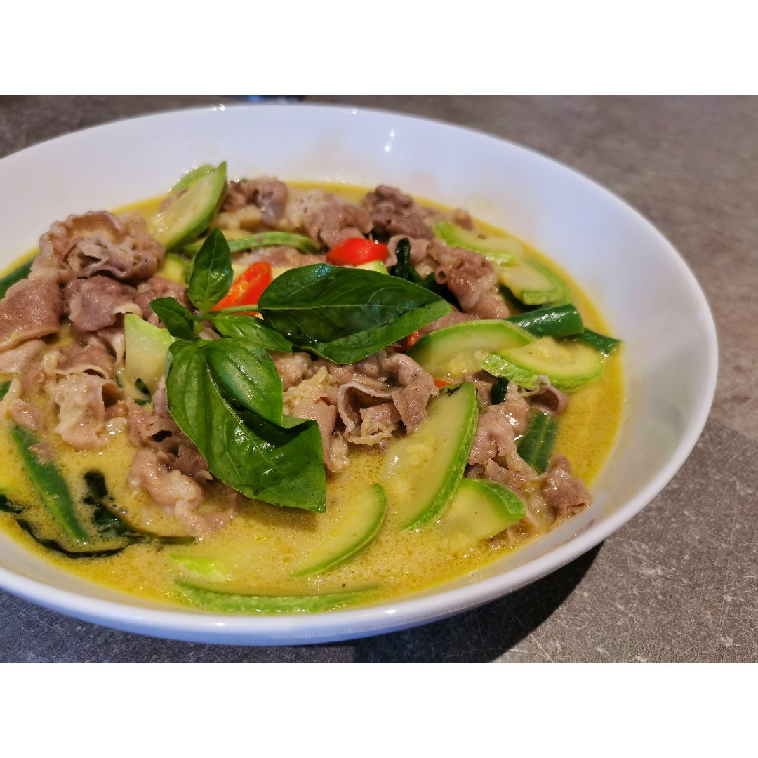泰式绿咖喱,绿咖喱牛肉