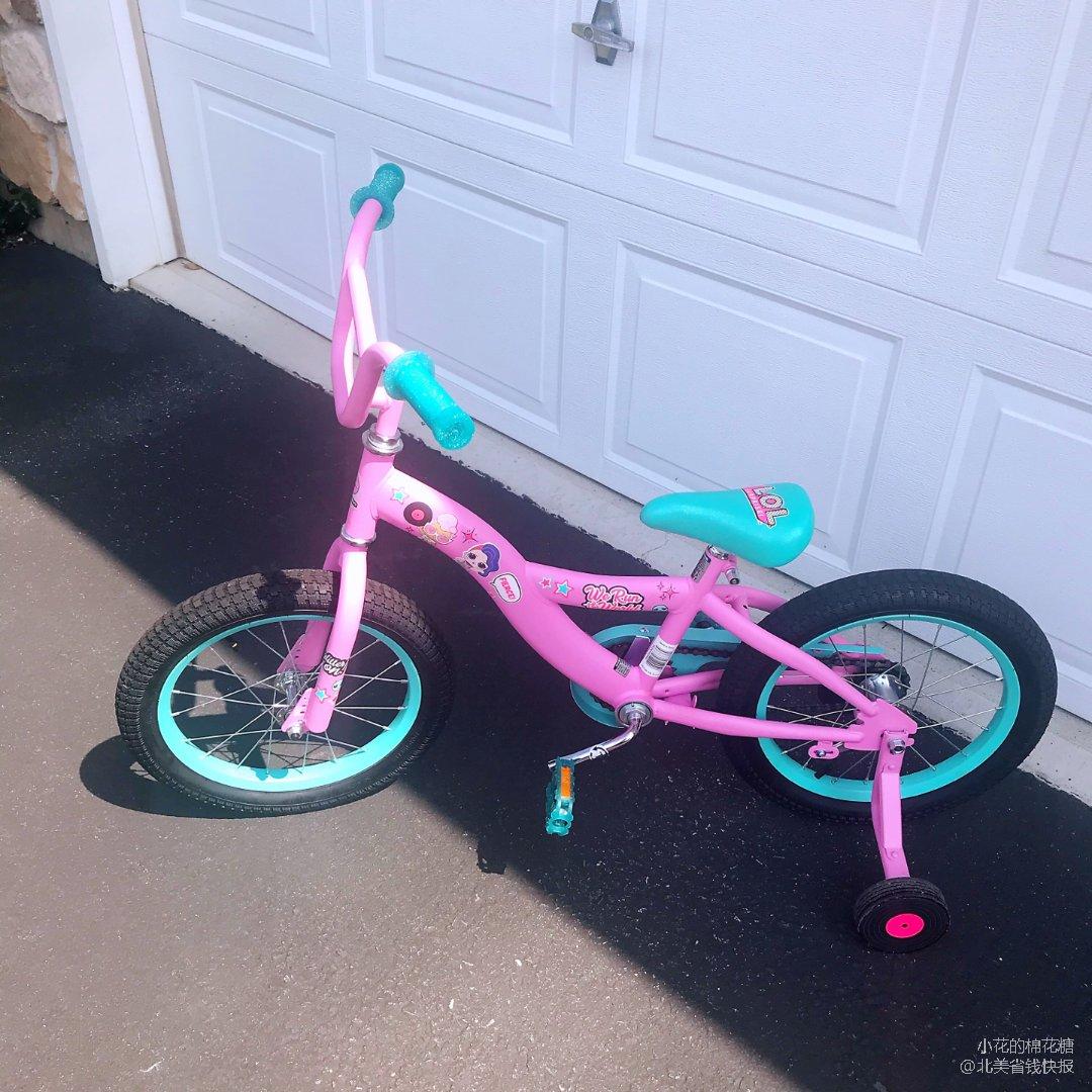 LOL的小女孩自行车. 粉粉嫩嫩真可爱.
