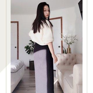 秋日穿搭  H&M珍珠高领毛衣...