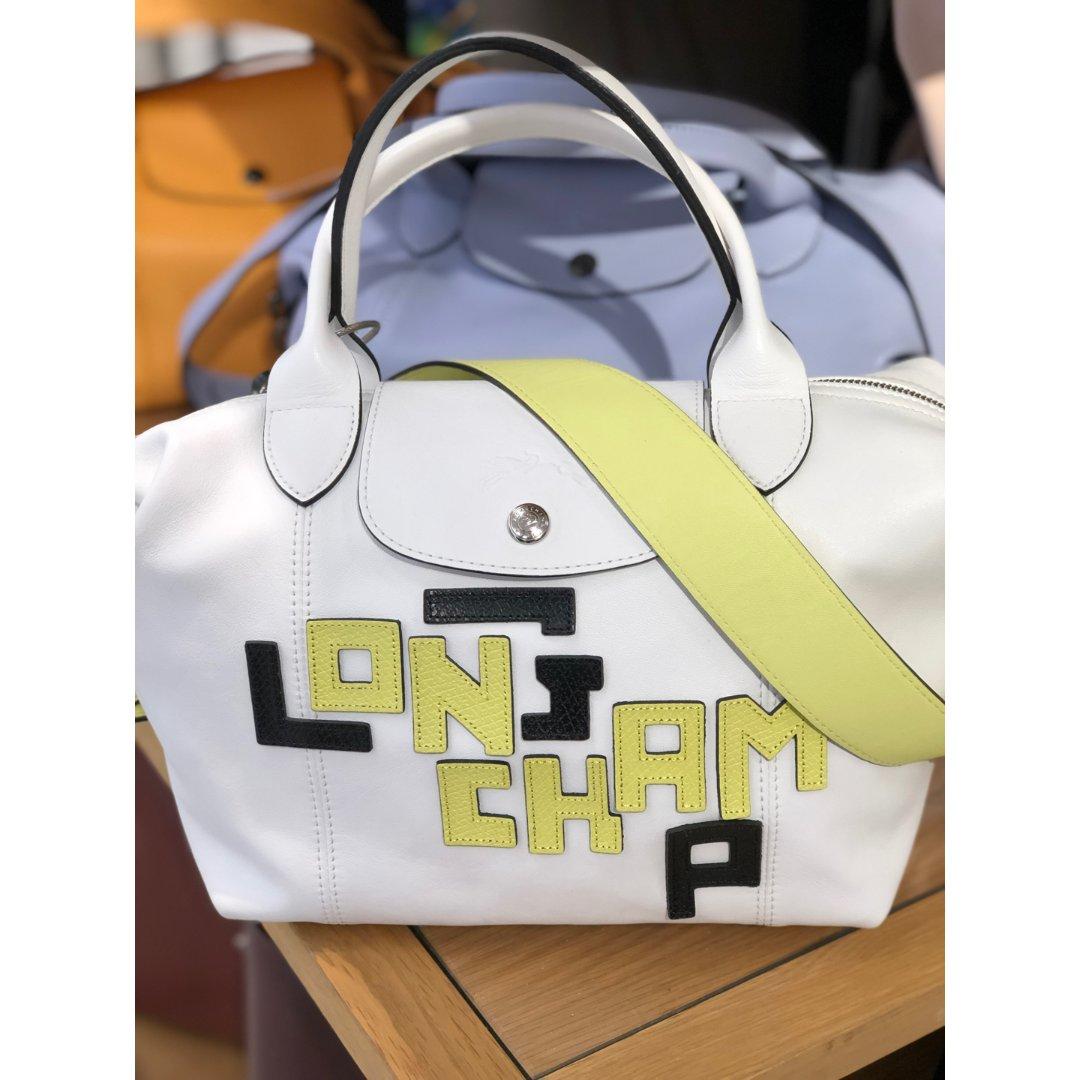 Longchamp超轻拼色皮包