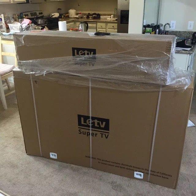 8号订的55寸电视今天到啦 快递送...