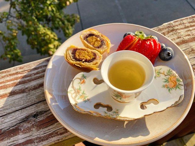 🍵 品一口【桂花龙井】下午茶点心绝配🌸