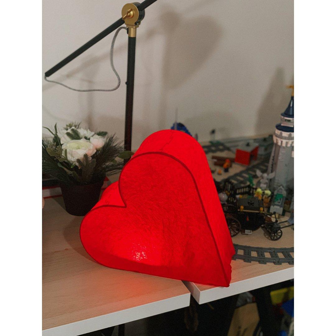 家装小物分享:宜家新出的红色心形灯