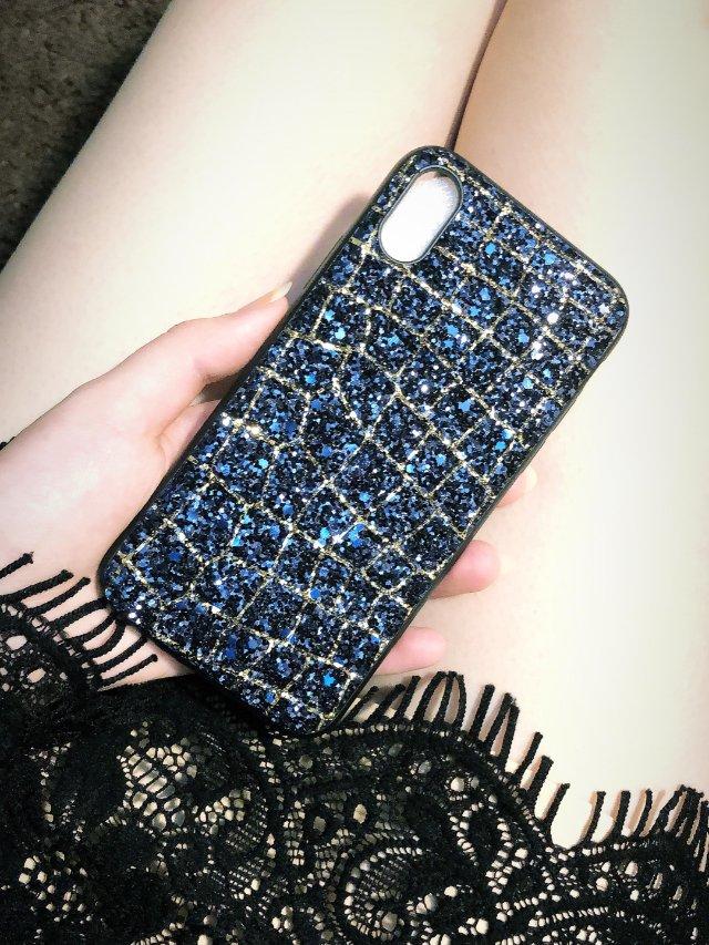 小香风亮片手机壳 | 神秘高贵的宝石蓝💙