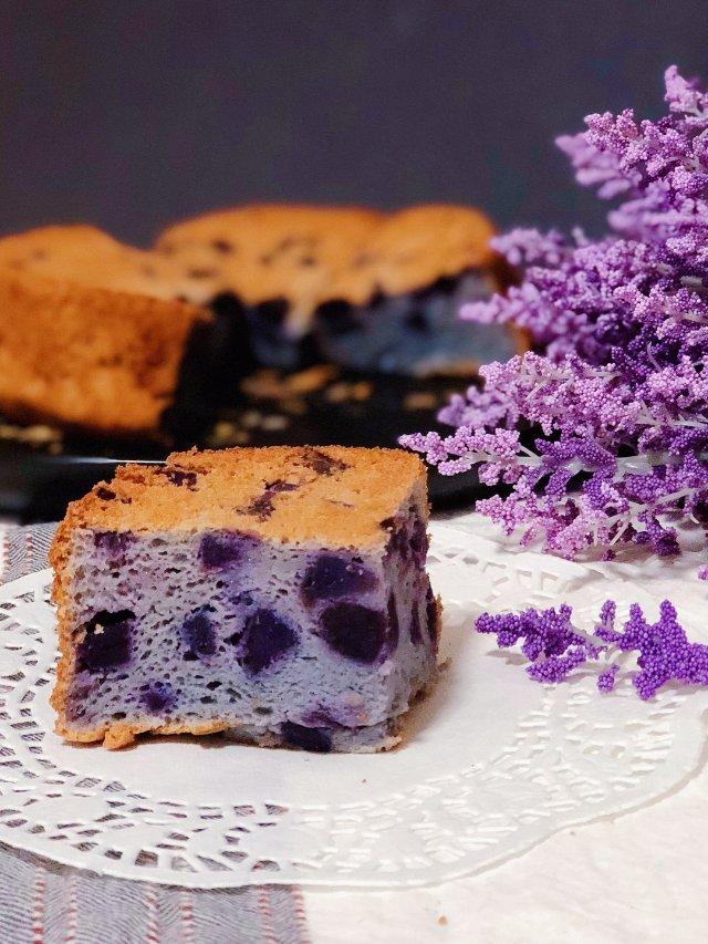 有点丑但是营养好吃的紫薯戚风