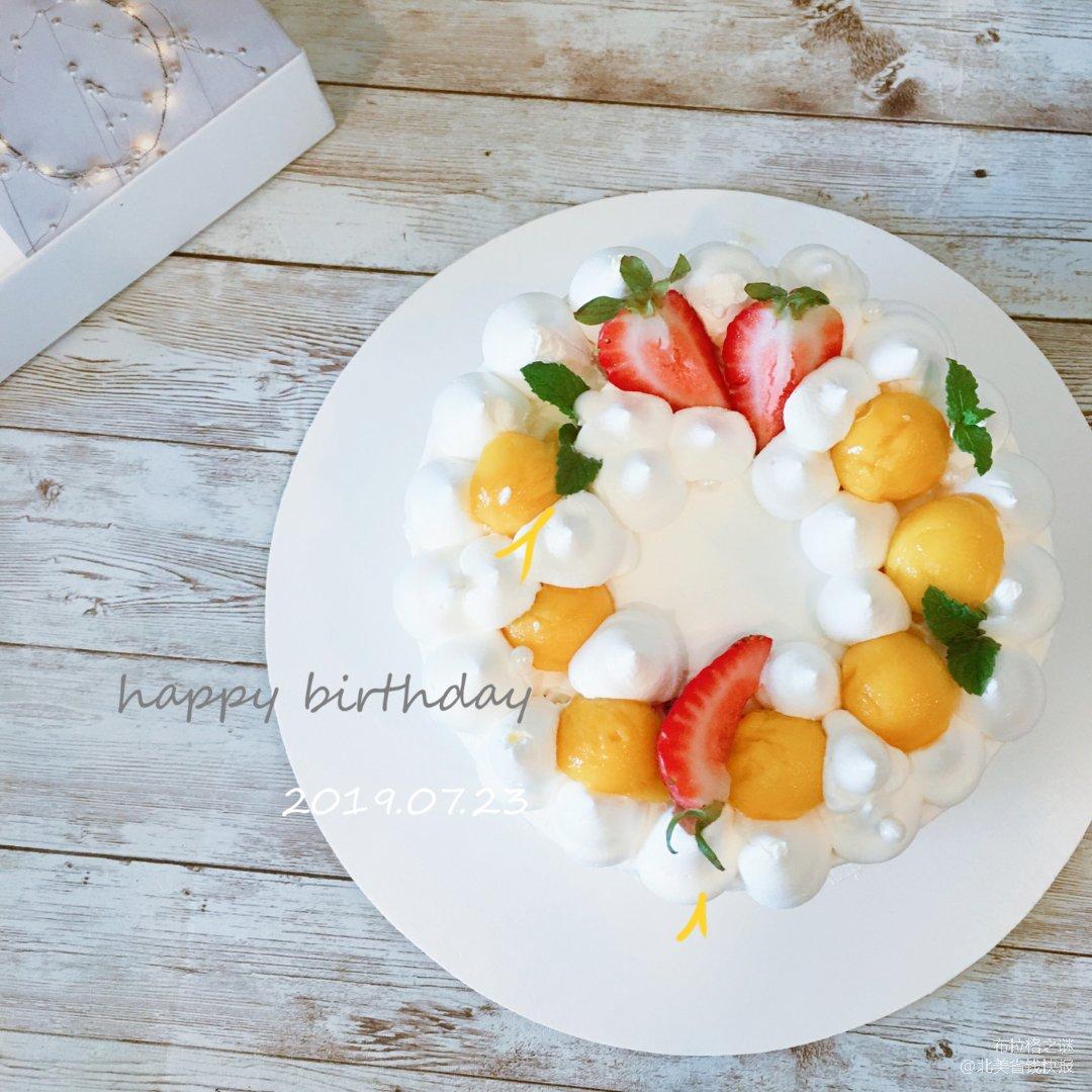 ✨给夏天来点甜 | 简约风奶油芒果蛋糕✨