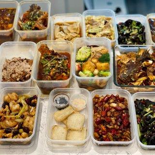 双糖糍粑,新派烤鱼,宫保虾球,饺子,鱼香茄子