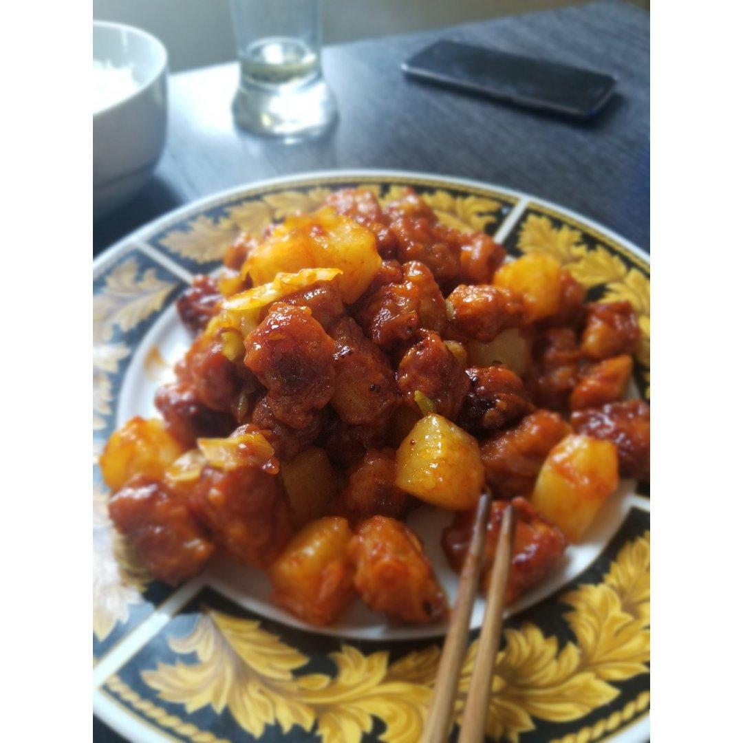 【日常晚餐】菠萝咕咾肉