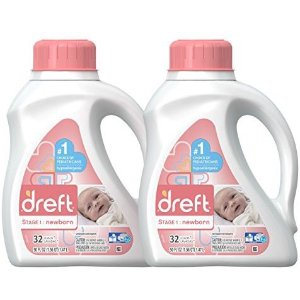 Dreft Stage 1 & 2: Hypoallergenic Liquid Baby Laundry Detergent (HE), Natural for Baby, Newborn, or Infant, 50 Ounce (32 loads), 2 Count